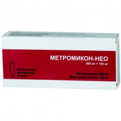 Buy Metromicon-neo candles vaginal 500mg + 100mg №14