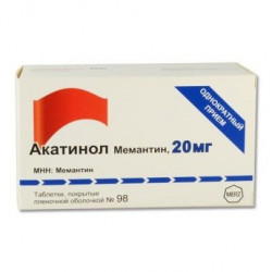 Buy Akatinol memantine coated tablets 20mg №98