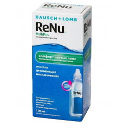 Buy Renu multiplus solution with protein cleaner 120ml