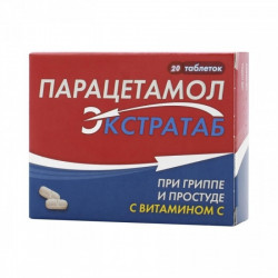 Buy Paracetamol extratab tablets 500mg + 150mg №20