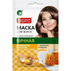 Buy Mask for hair folk recipes egg 30ml