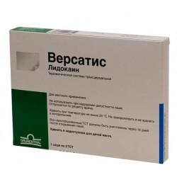 Buy Versatis lidocaine therapeutic system 5pcs sachet number 1