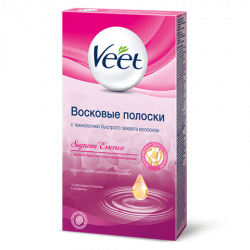 Buy Veet (viit) wax strips for depilation bikini scent of rose n14