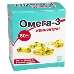 Buy Omega-3 capsules concentrate 60% 1000mg №30