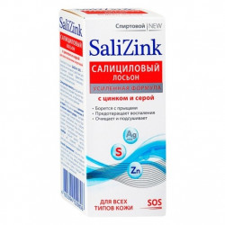 Buy Salicylic lotion with zinc and gray, all skin types, alcohol 100ml