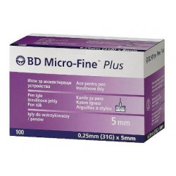 Buy Bd needles micro-fayne plus for disposable syringe pens 31g 0.25x5mm No. 100