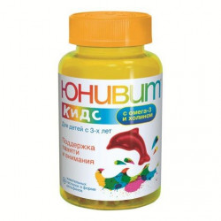 Buy Univit kids with omega 3 and choline chewing lozenges 4000mg №30