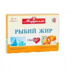 Buy Fish oil capsules of 0.3 g with sea buckthorn №100