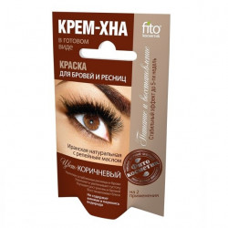 Buy Paint for eyebrows and eyelashes cream henna brown