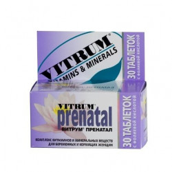 Buy Vitrum prenatal tablets number 30