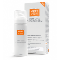 Buy Special Merz cream mousse with collagen bottle 50ml