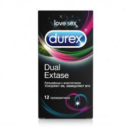 Buy Durex condoms dual extase №12