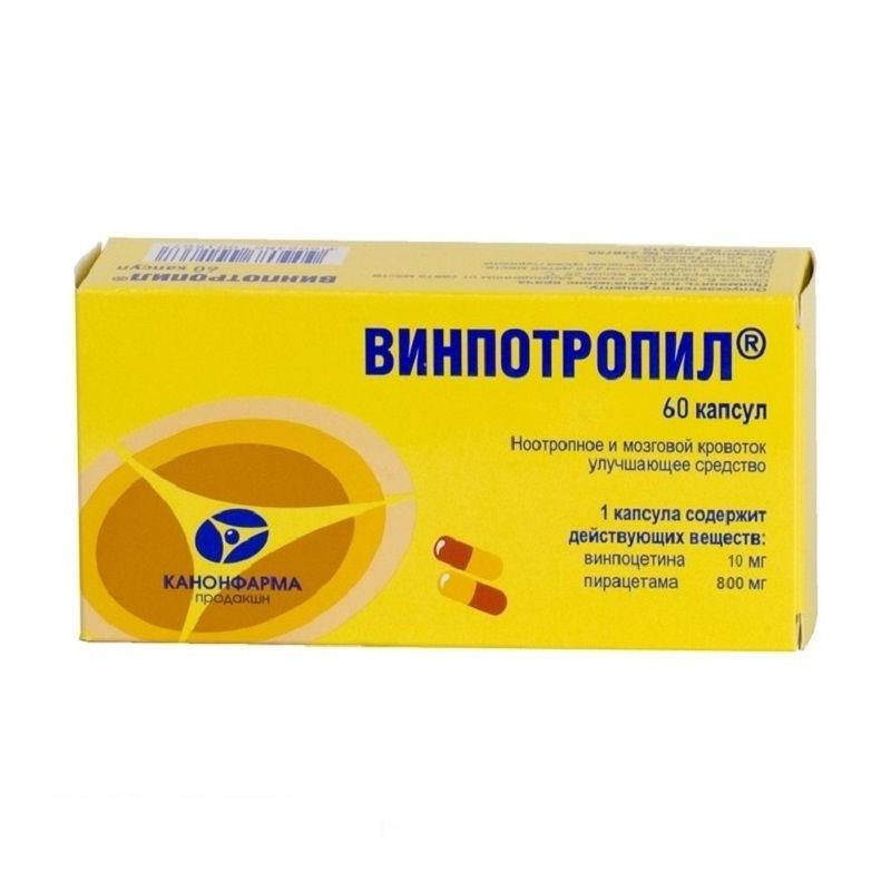 Buy Vinpotropil tablets r 10mg + 800mg №60