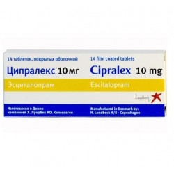 Buy Tsipraleks tablets 10 mg No. 14