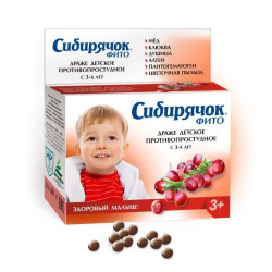 Buy Siberian phyto for children from a cold dragee 80g