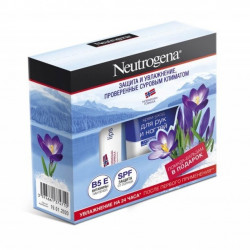 Buy Neutrogena (nitrozha) promo set cream for hands and nails 75ml + lipstick 4.8g