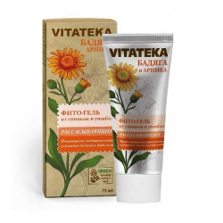 Buy Vitateka (Vitateca) phyto-gel for bruises and bruises badyaga and arnica 75ml