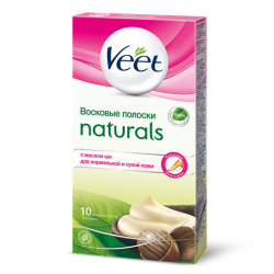 Buy Veet (viit) wax strips with shea butter No. 10