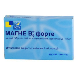 Buy Magne b6 forte coated tablets №30