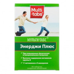 Buy Multi-tabs energy plus number 30 tablets