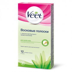 Buy Veet (viit) wax strips for depilation for dry skin
