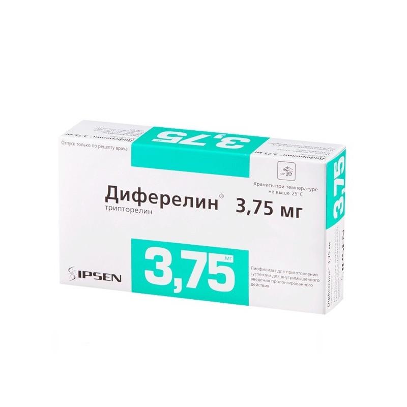Buy Diferelin powder for injection 3.75 mg + solvent + syringe number 1