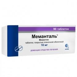 Buy Memantal tablets coated 10 mg №90